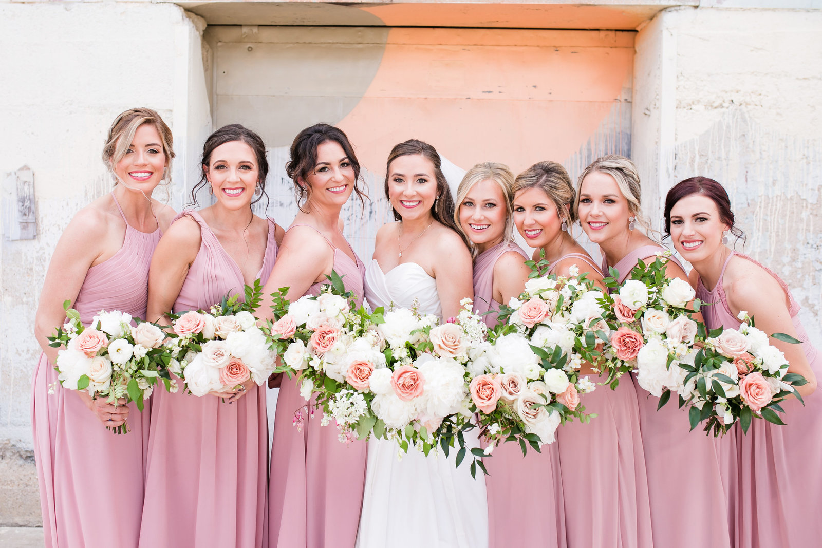 Dallas Wedding Photographer Brik Venue Bridal Party