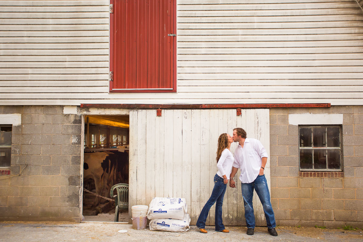 engagement photos on a farm in maryland near frederick