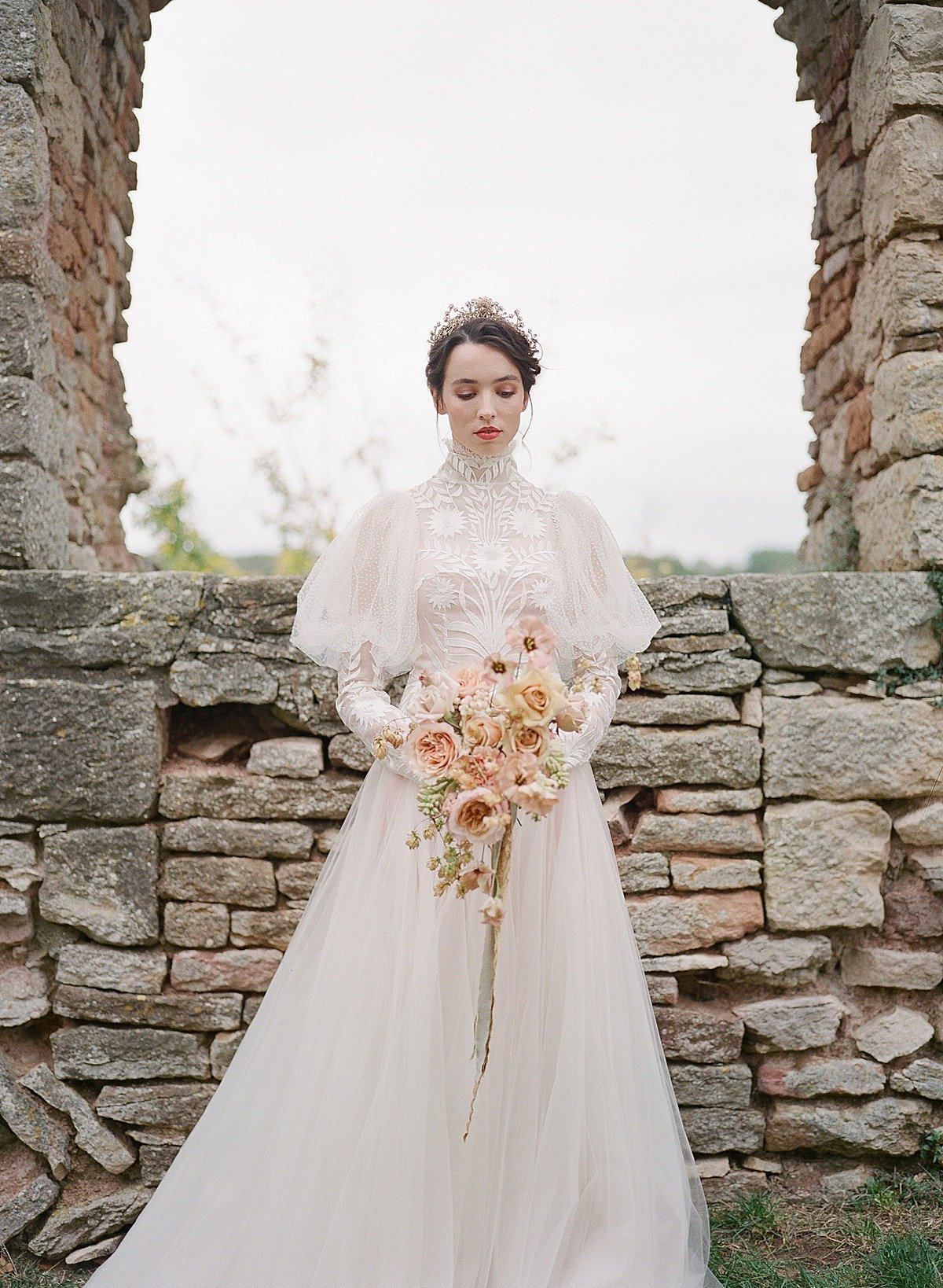 Helianthus-high-neck-puff-sleeve-wedding-dress-JoanneFlemingDesign-CelineChhuonPhoto (75)_WEB