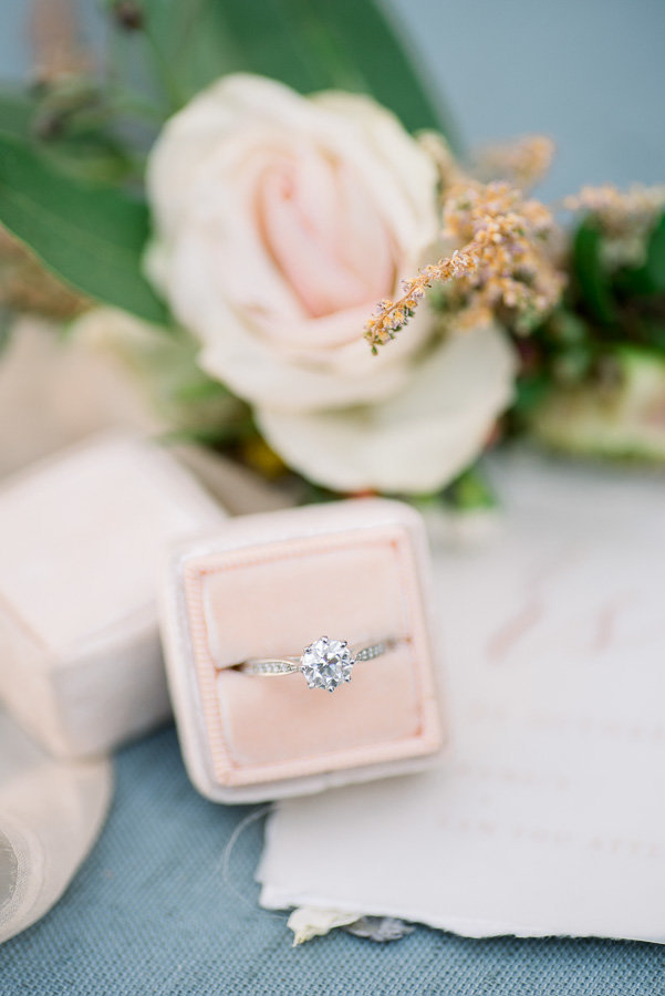 Agua Linda Farms Wedding Photo of Bridal Details Wedding Ring and Mrs Box | Tucson Wedding Photographer | West End Photography