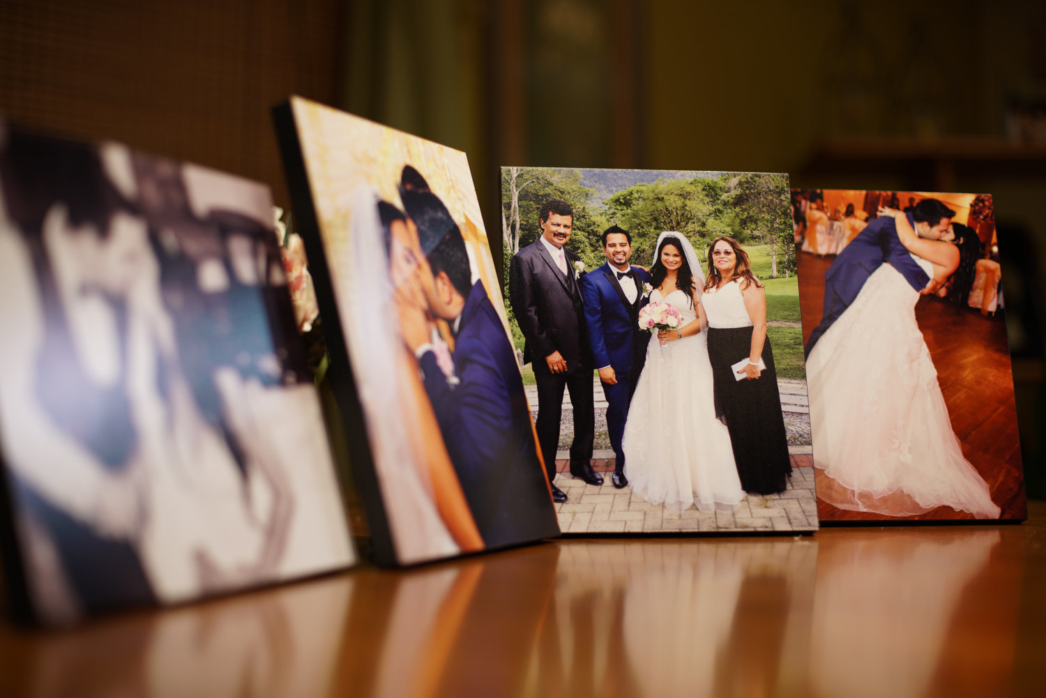 Samples of canvas prints by Ross Photography. Photo by Ross Photography, Trinidad, W.I..