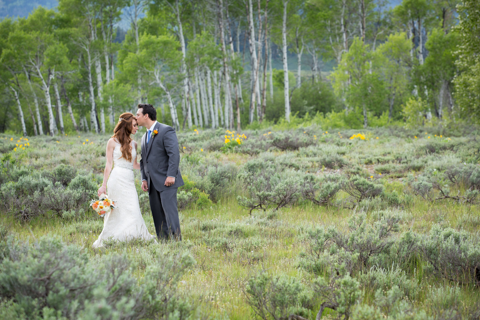 Chapel of Transfiguration wedding in Grand Teton National Park