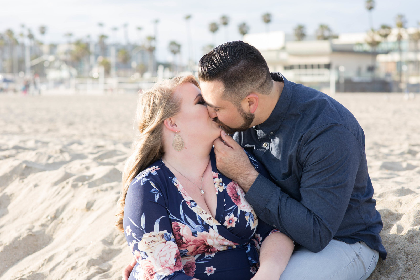 Engagement Session at Huntington Beach - Kelly H Photo