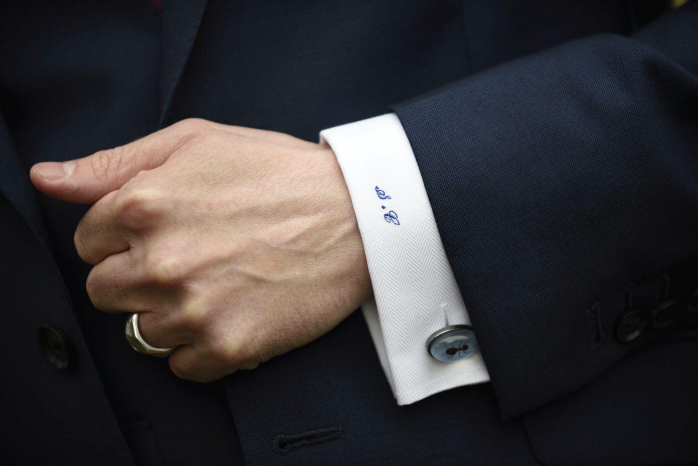 Grooms personalized cuff Uk
