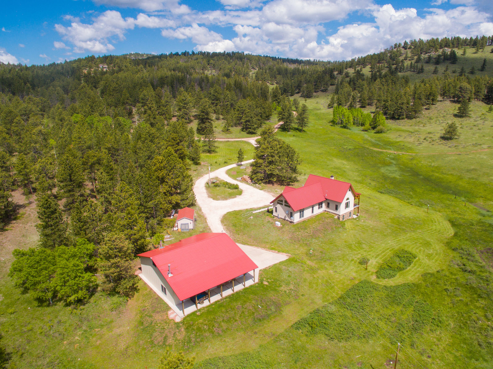 Livermore Colorado Aerial Photo Home 3