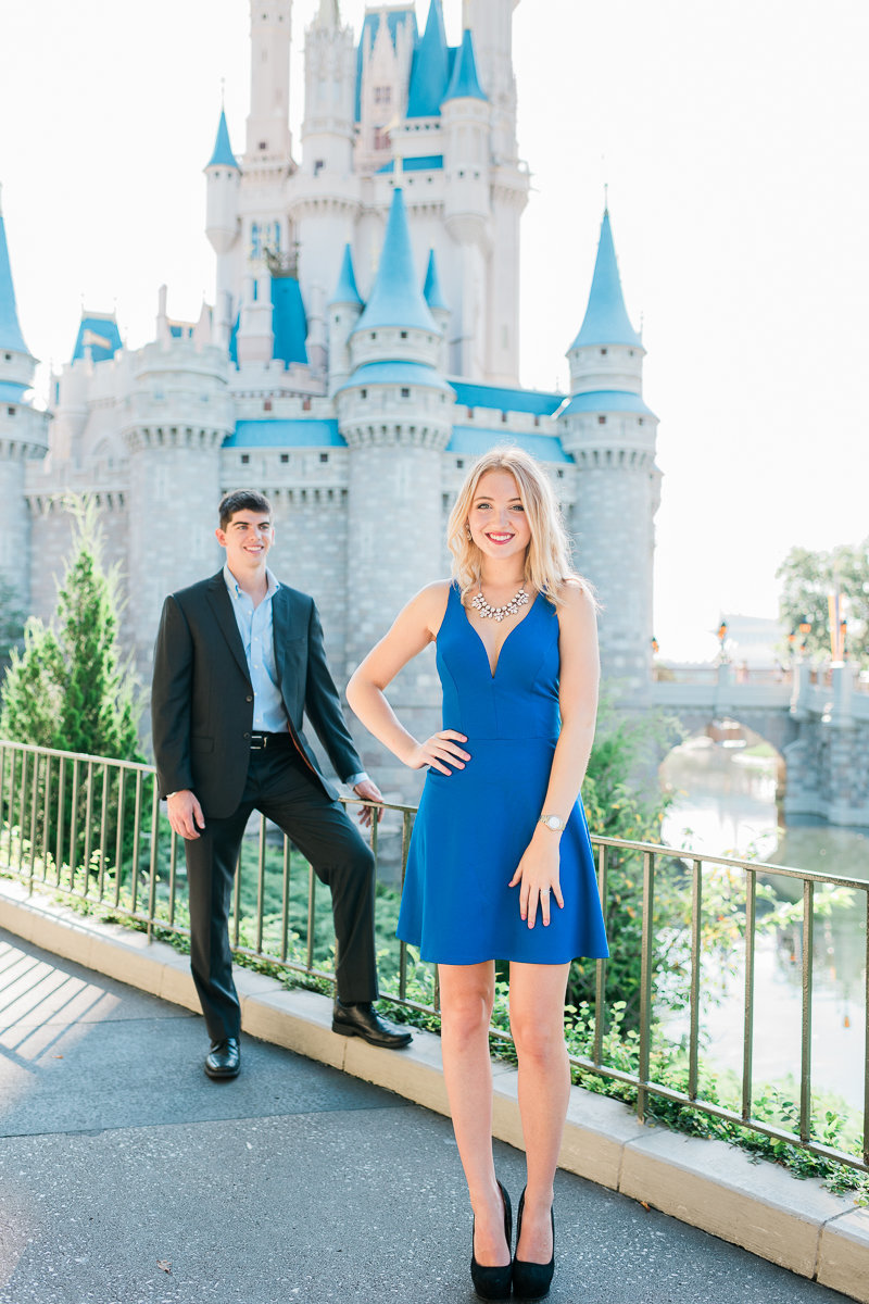 Orlando Engagement Photographer | Disney Magic Kingdom Engagement Session | Enagement at Disney-24