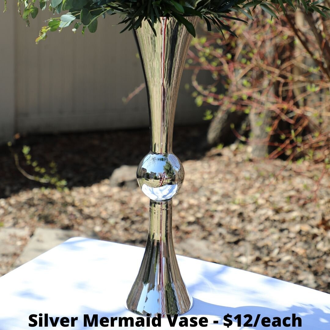 silver mermaid vase