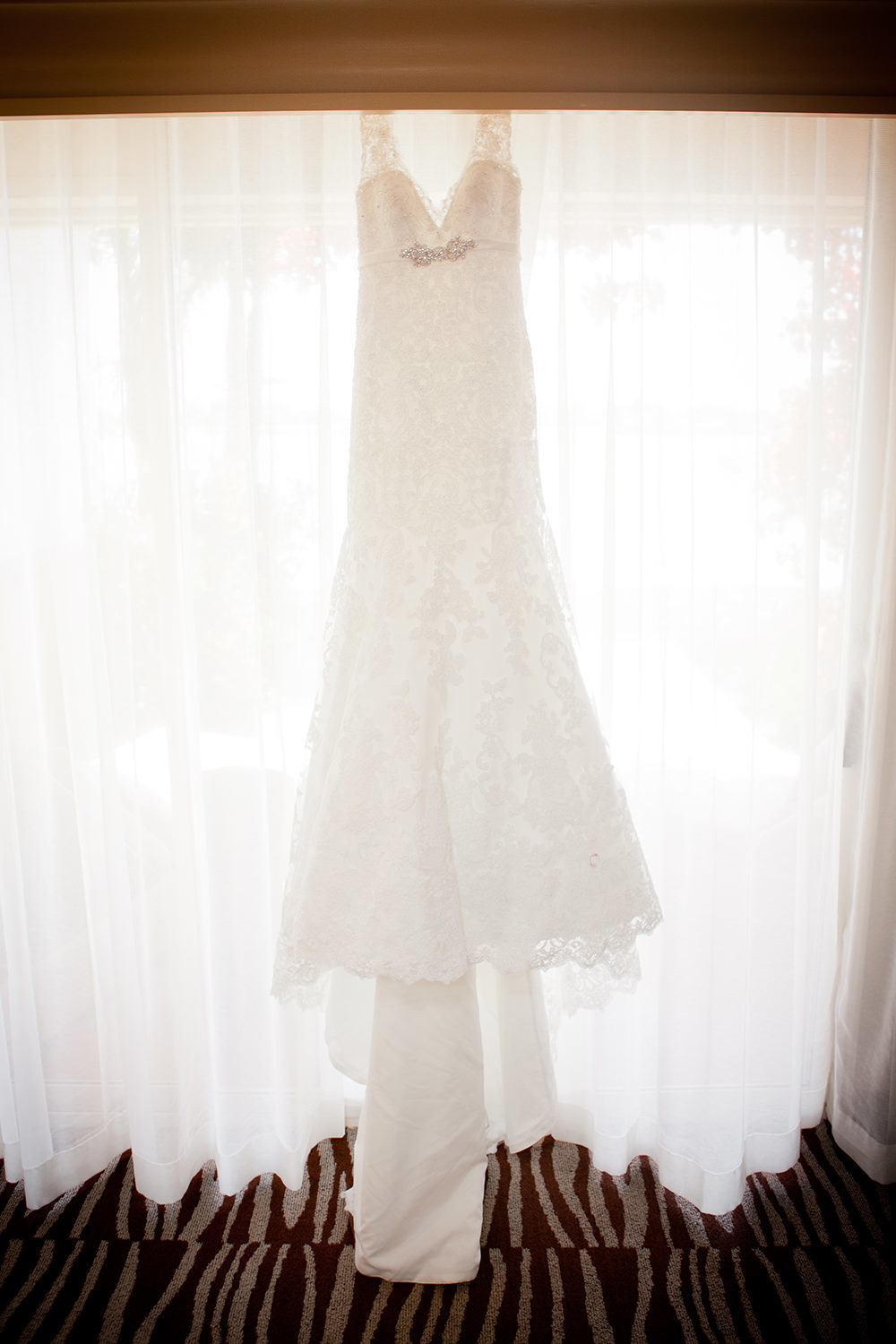 beautiful bridal dress at hilton mission bay