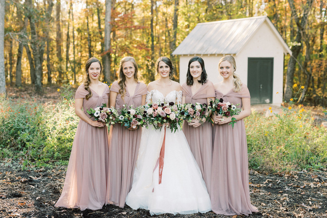 bridesmaids in parlour woods pew house