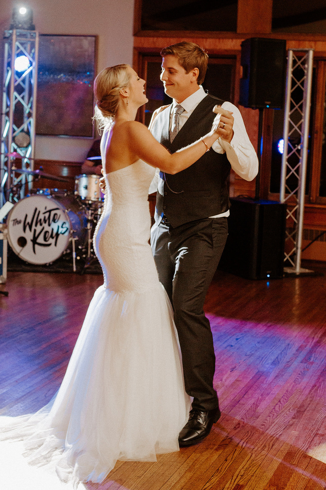 Bride and groom dancing together during their Minneapolis Wedding Reception
