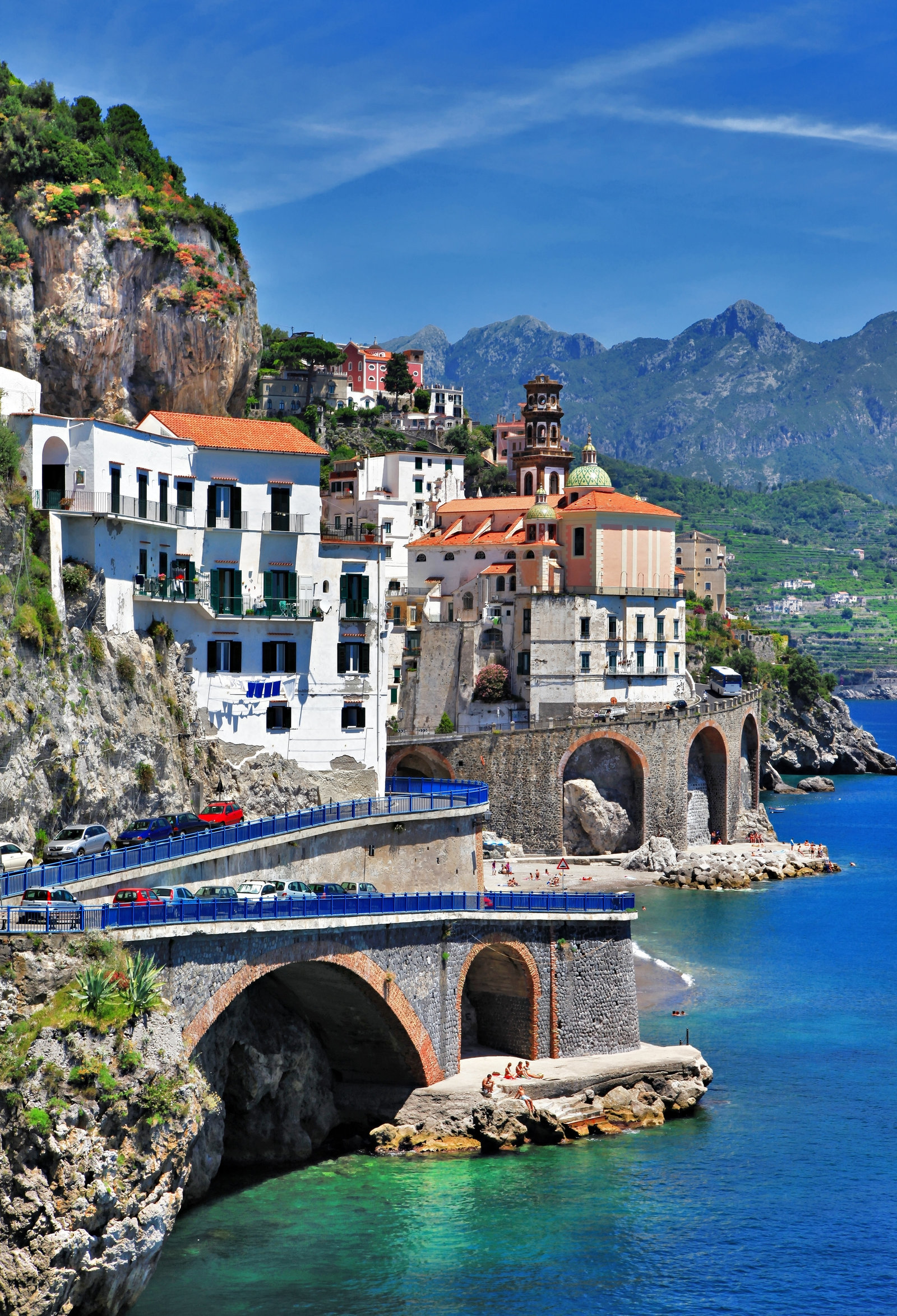 beautiful coast - Amalfi, view of Atrani village