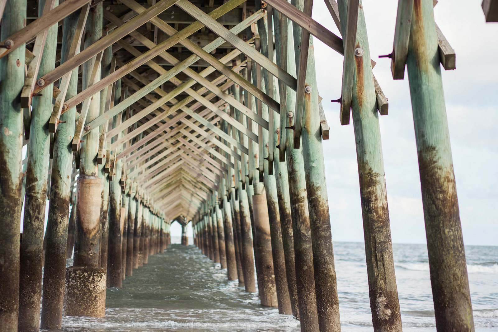 Fishing pier, Folly Beach in South Carolina