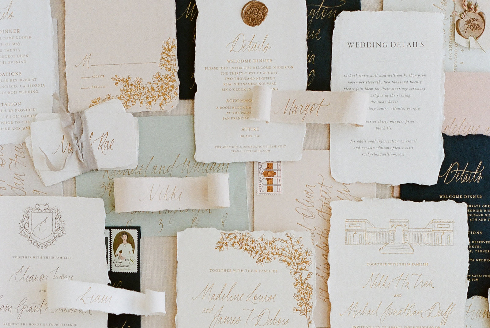Florence Wedding Invitations, Handmade Paper