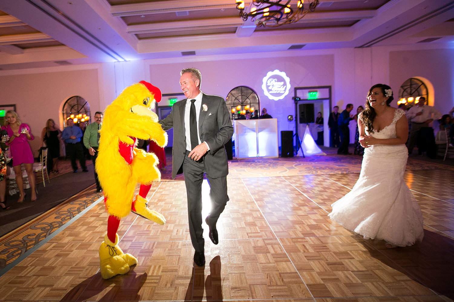 The real chicken dance | Estancia wedding reception