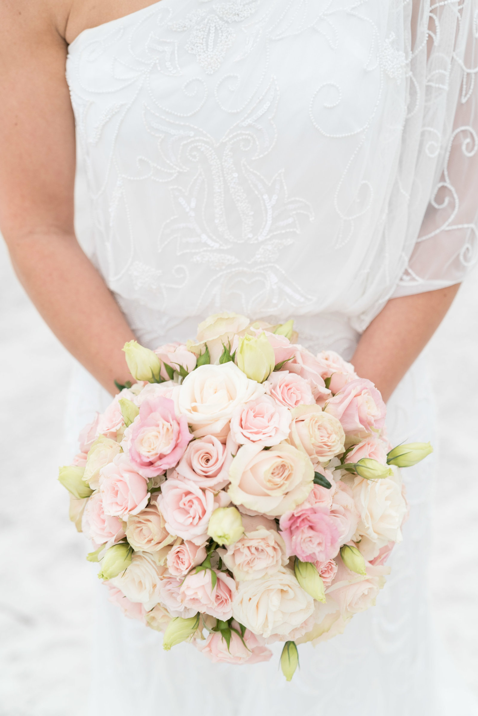 charlotte wedding photographer shot of Detail shot of bridal bouquet