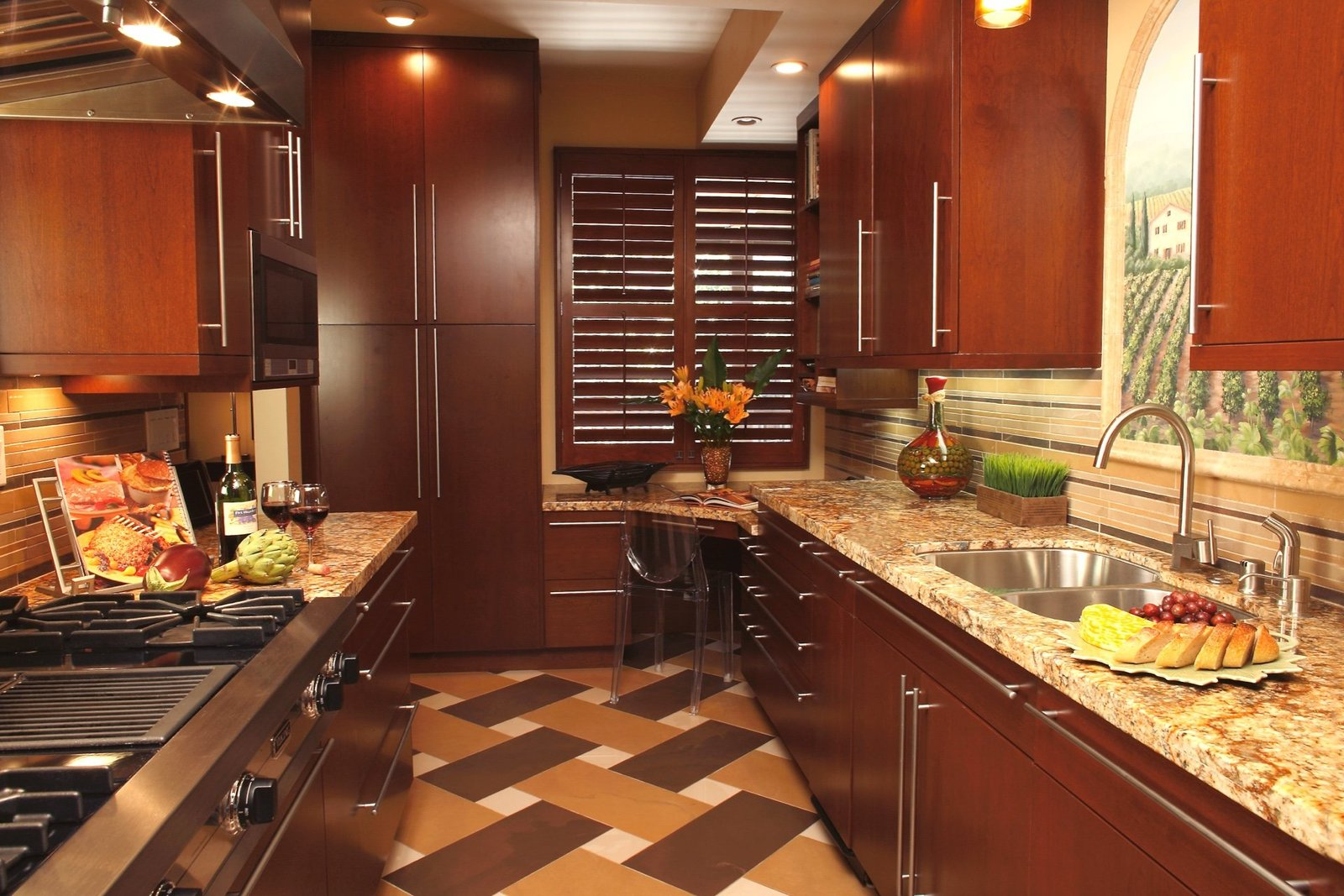 Sophisticated Galley Kitchen