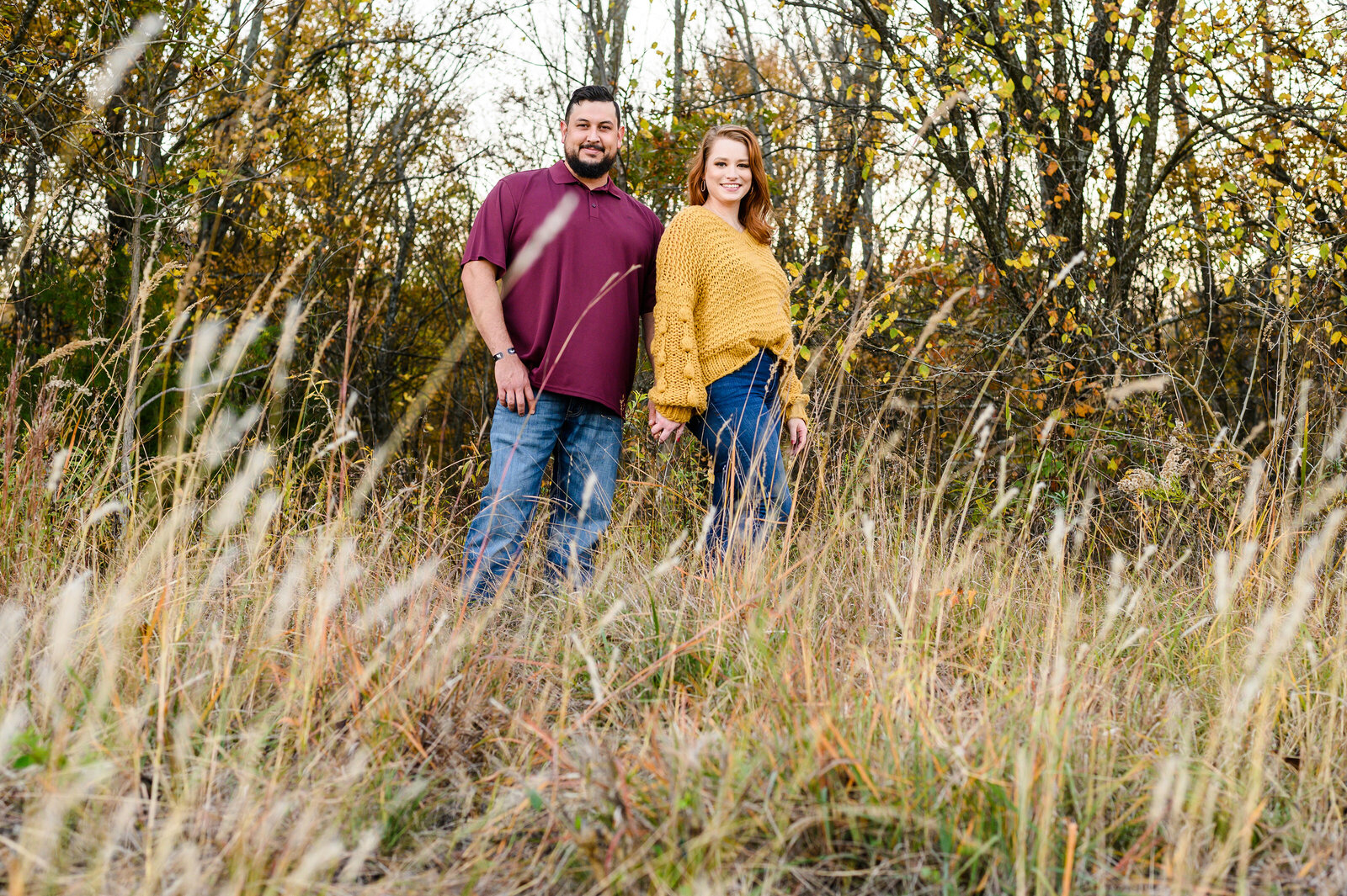 Plano Fall engagement photos