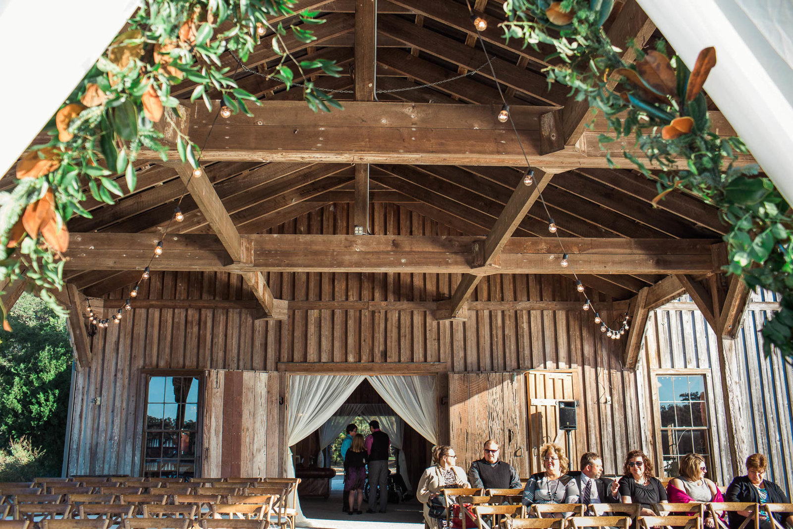Ceremony is set up in the cotton dock, Boone Hall Plantation, Charleston, South Carolina