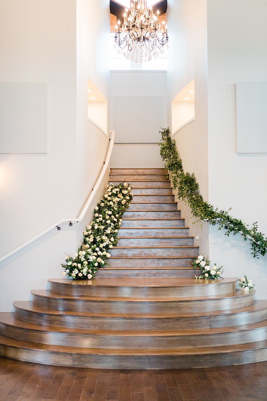 stair-case-floral-install