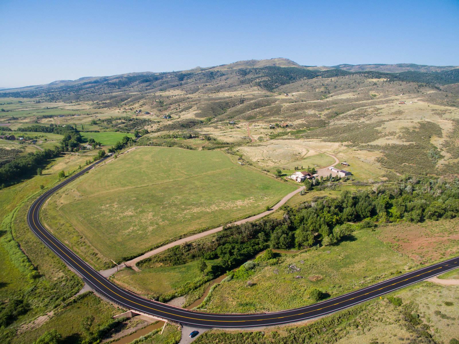 Loveland Colorado Road Construction Aerial Photo
