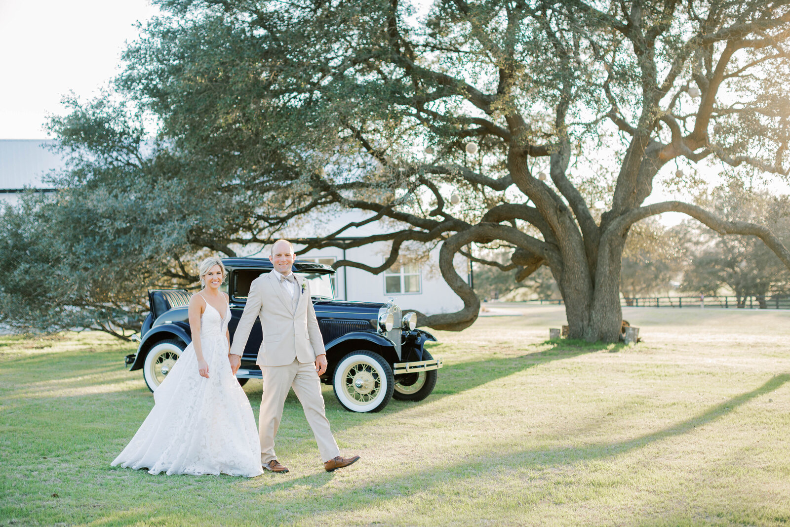 A classic wedding with luxury touches