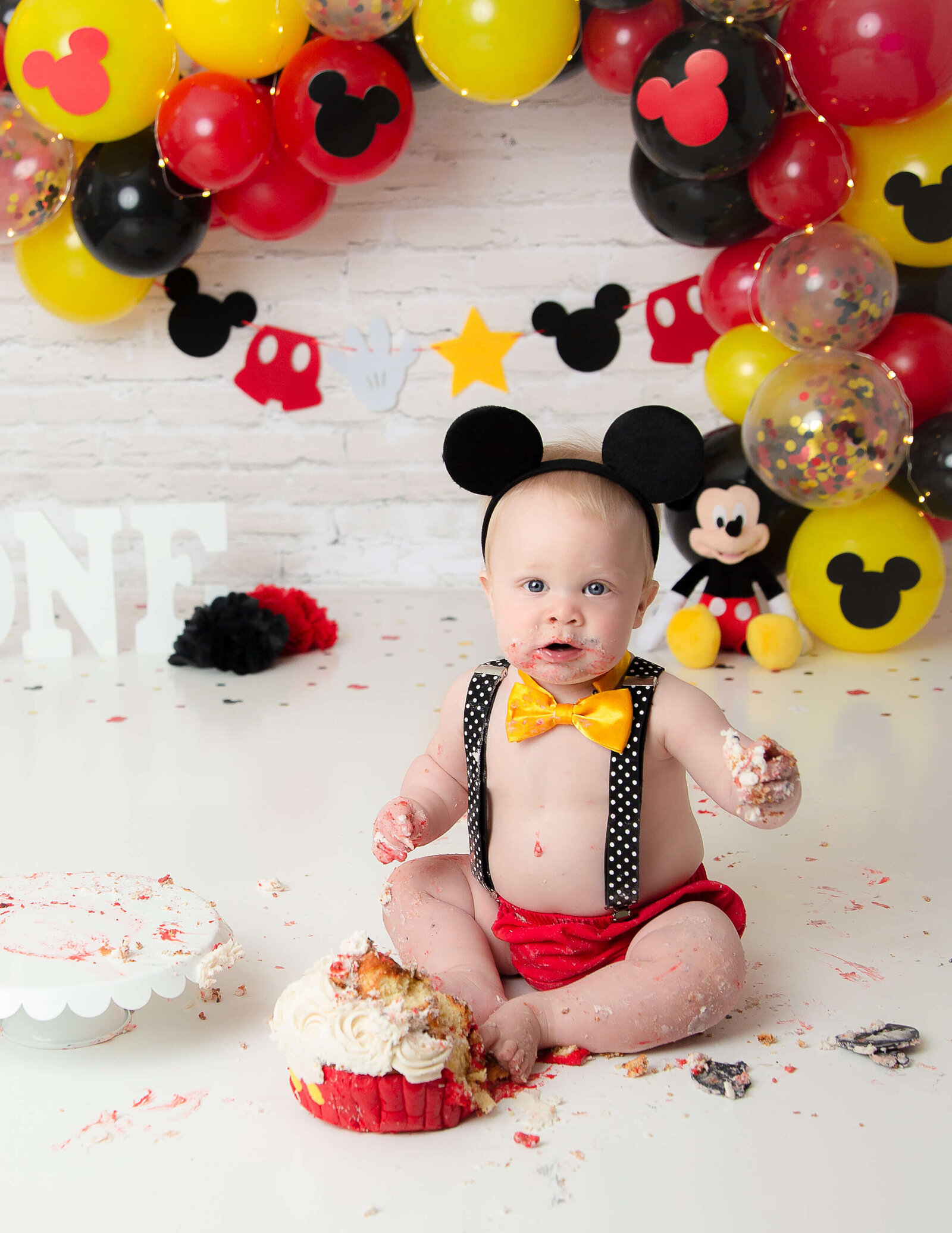 Sweet one year old posed at our Rochester, Ny studio.