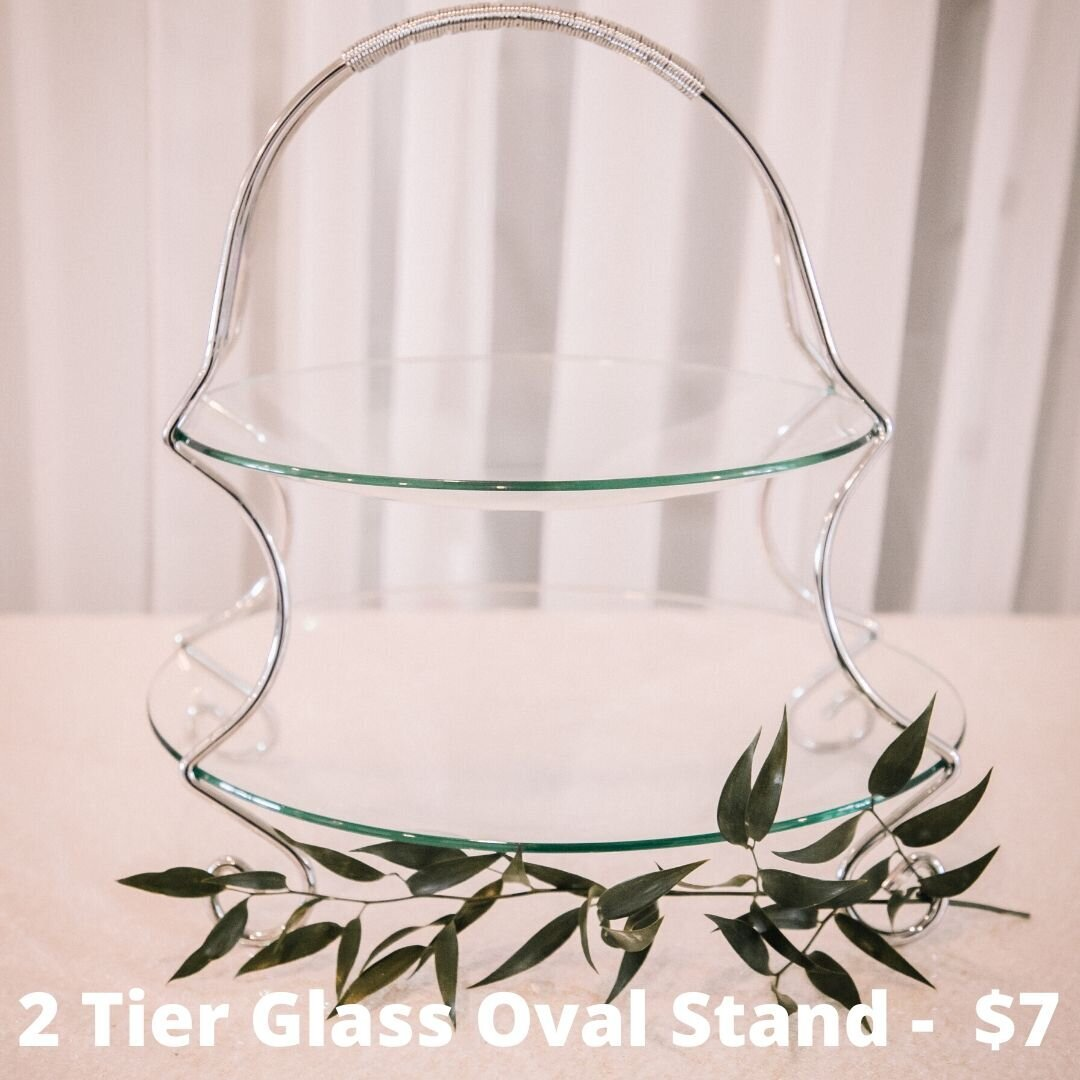 2 tier glass oval