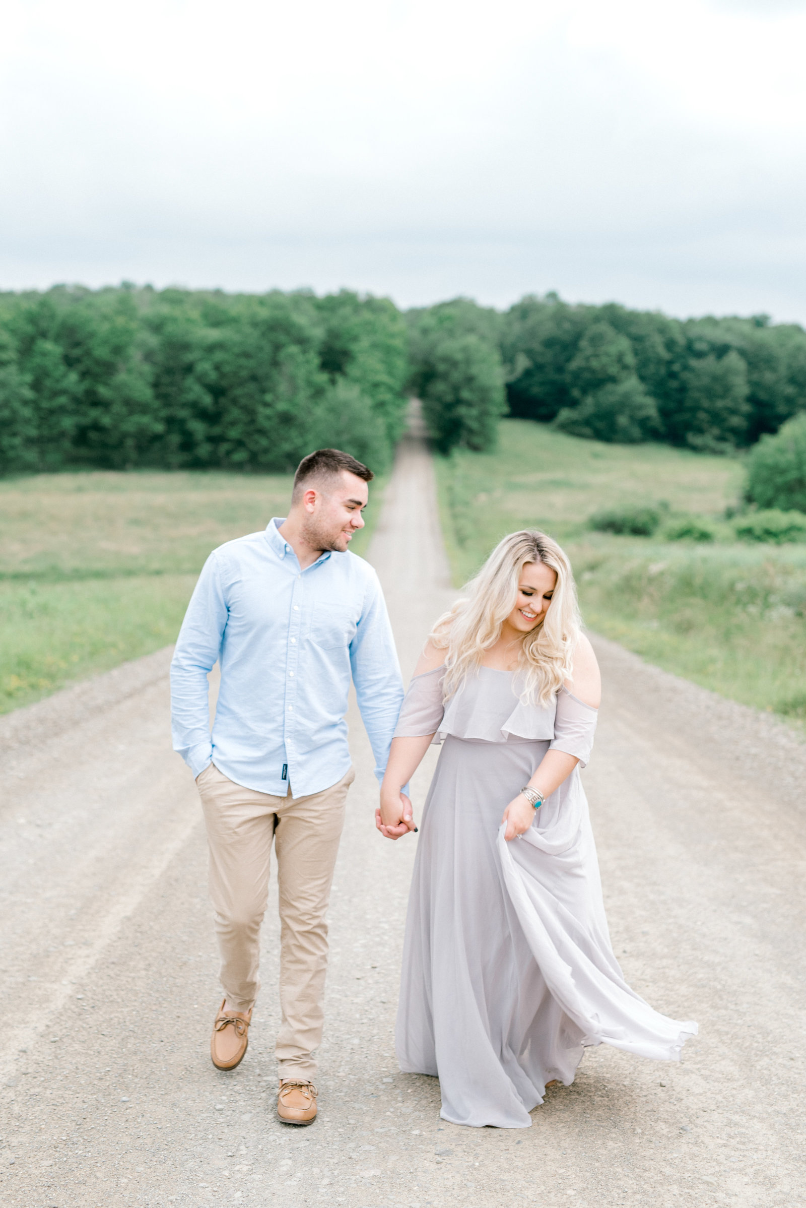 Backroad in Western NY Engagement Session