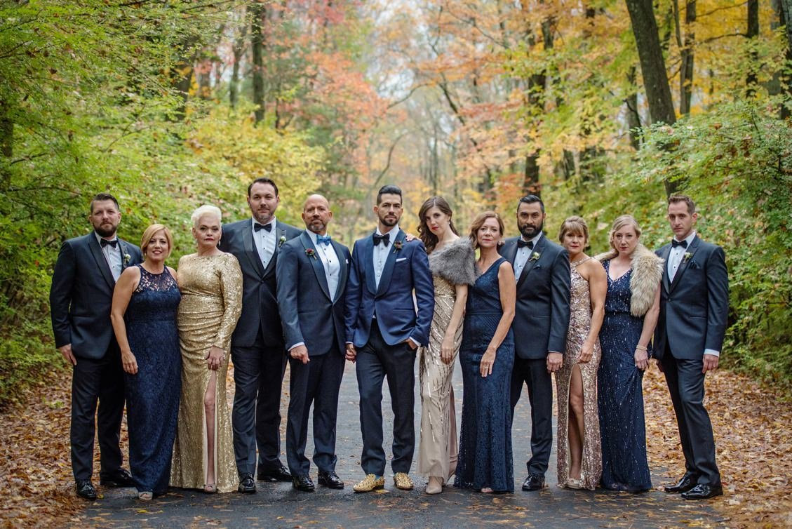Brendan & Ryan's fall wedding at Lord Thompson Manor in CT.