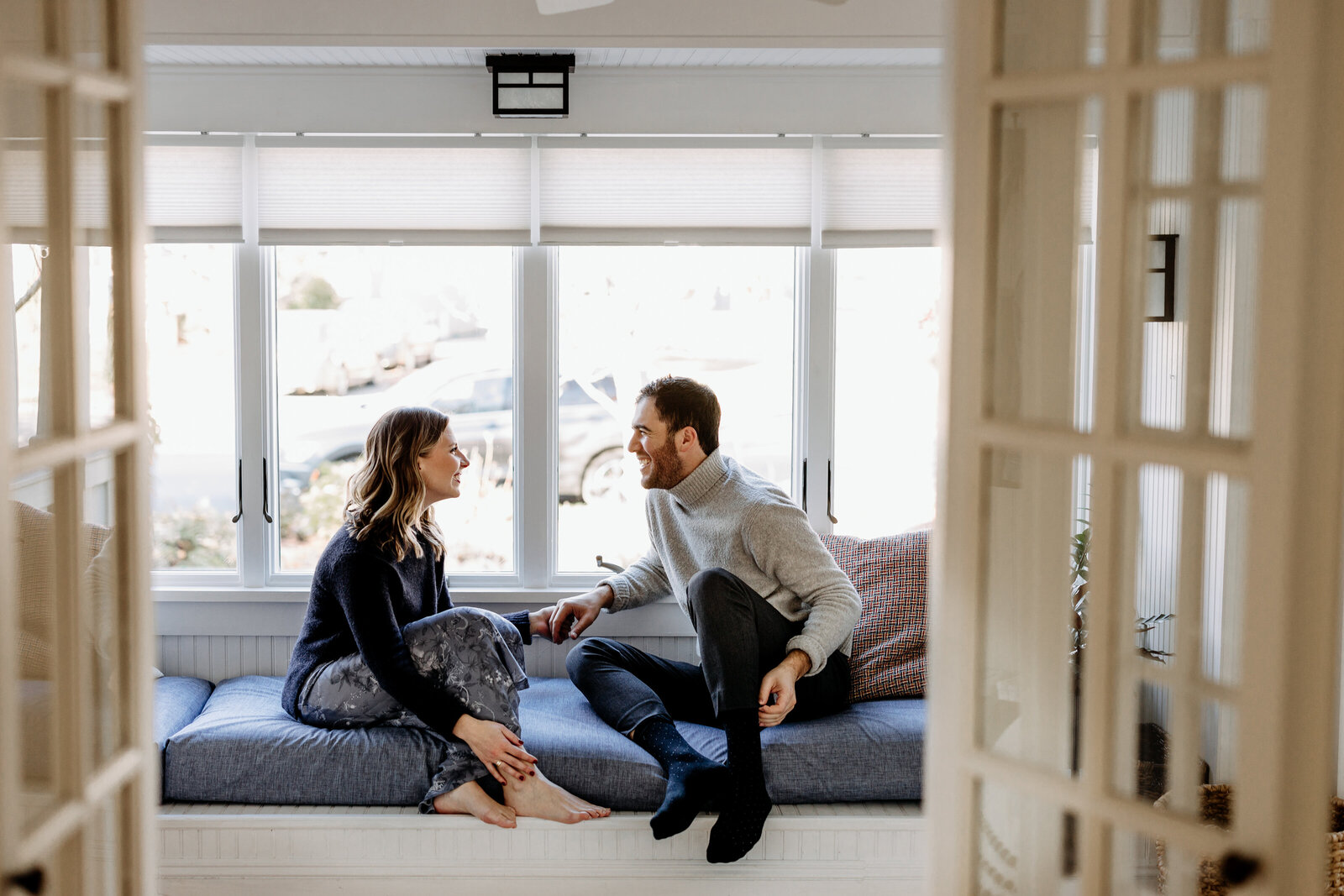 couple at modern home