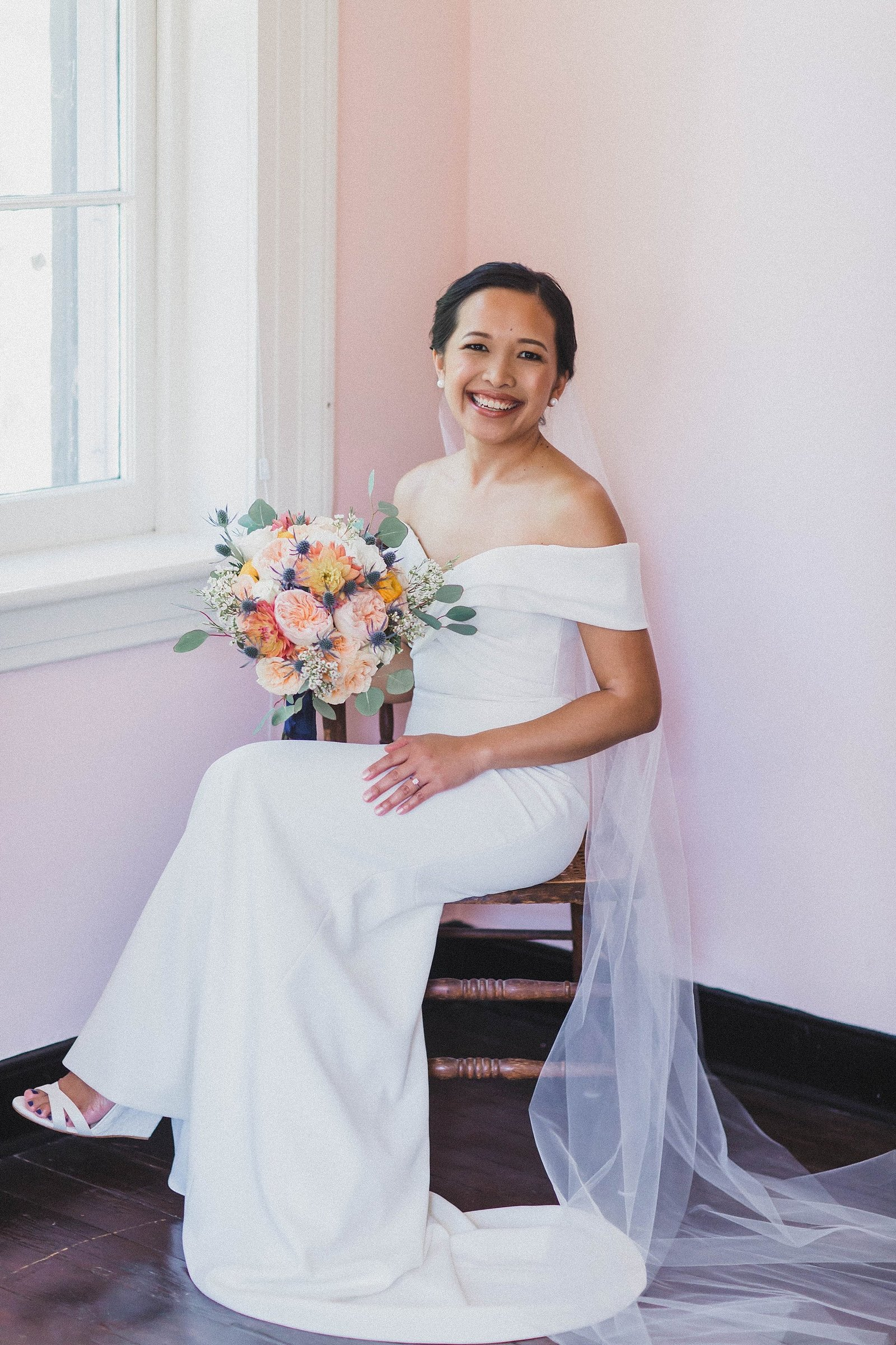 M Harris Studios_Braehead Manor_VA Wedding Photographer_bridal portrait