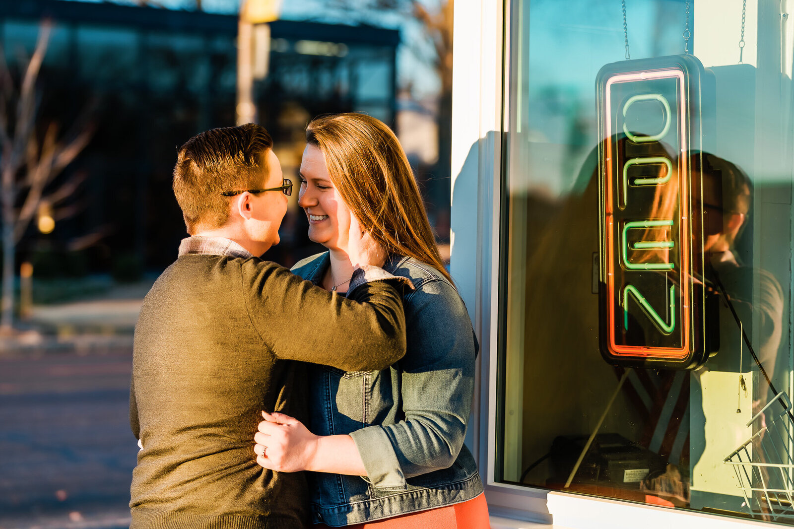 LGBT engagement session at Ted Drewes in Saint Louis