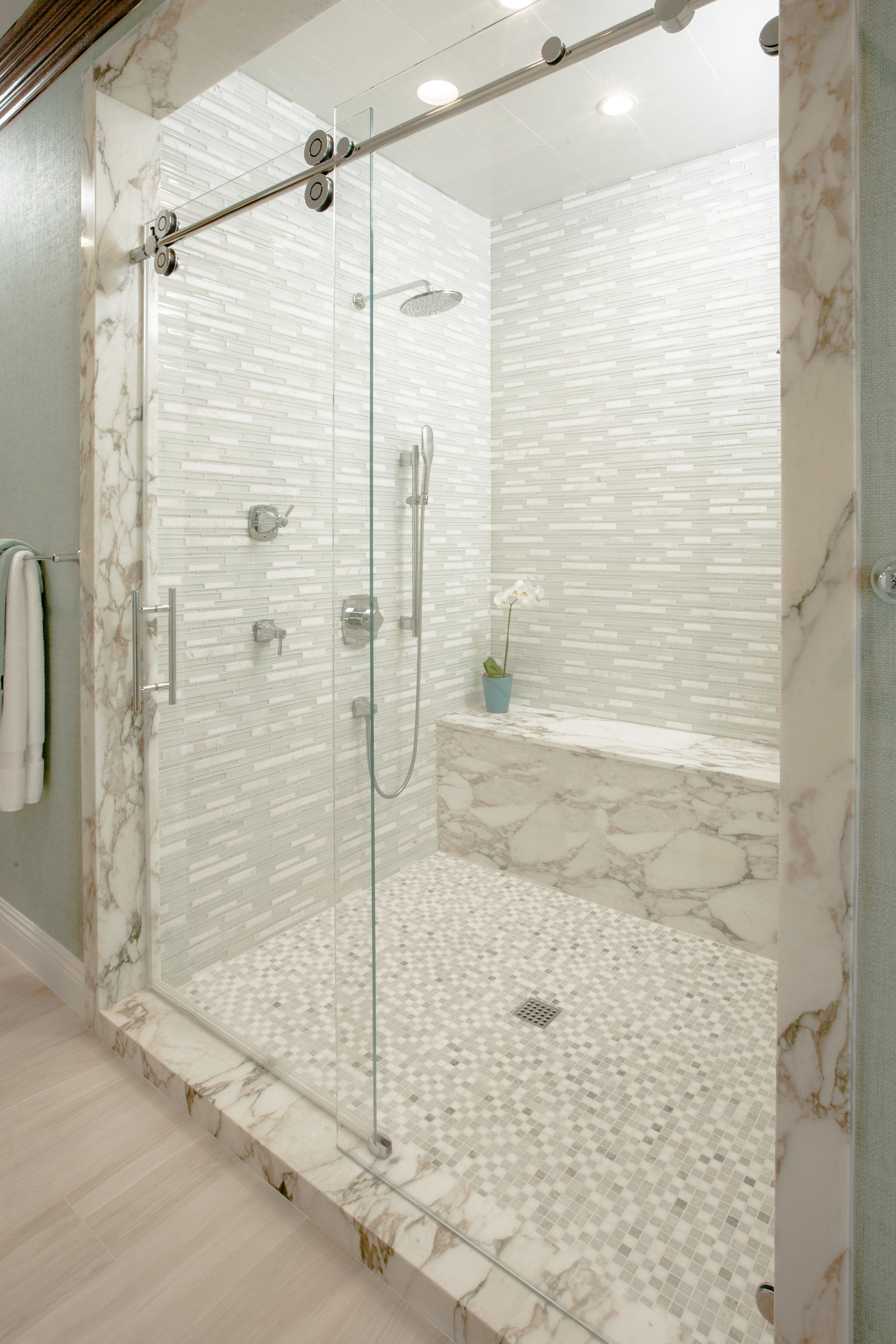 Marble Bathroom Shower Interior