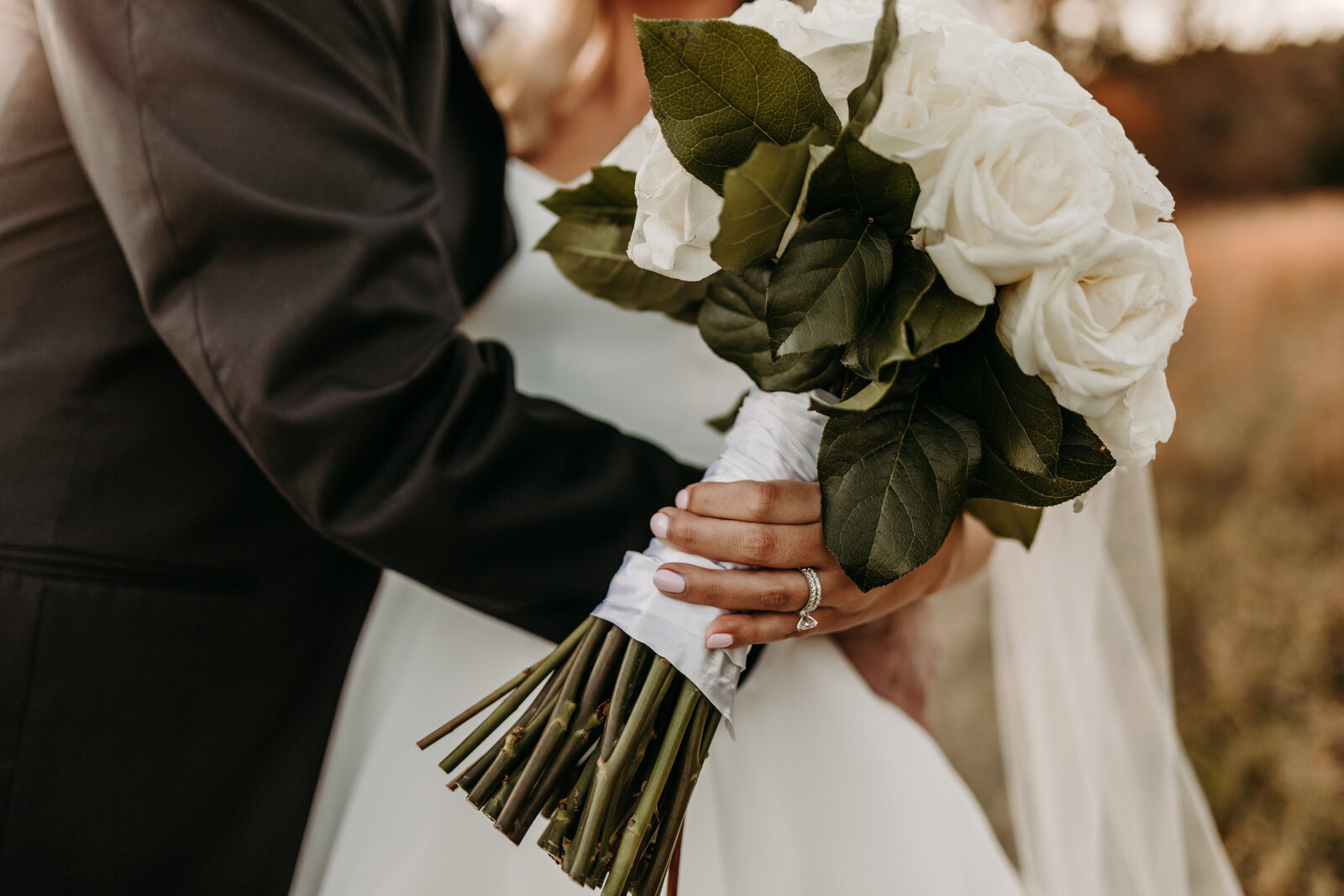 J.Michelle Photography photographs a bridal bouquet at vintage oaks farm wedding in Athens, Ga
