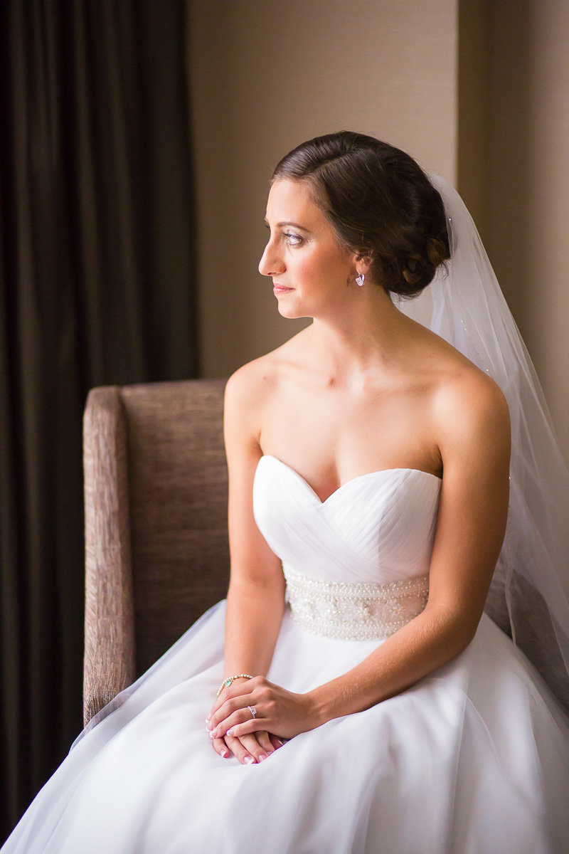 formal photo of a bride at a wedding in annapolis md