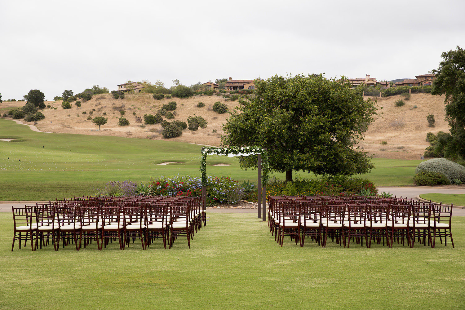 the ceremony space at santa luz club
