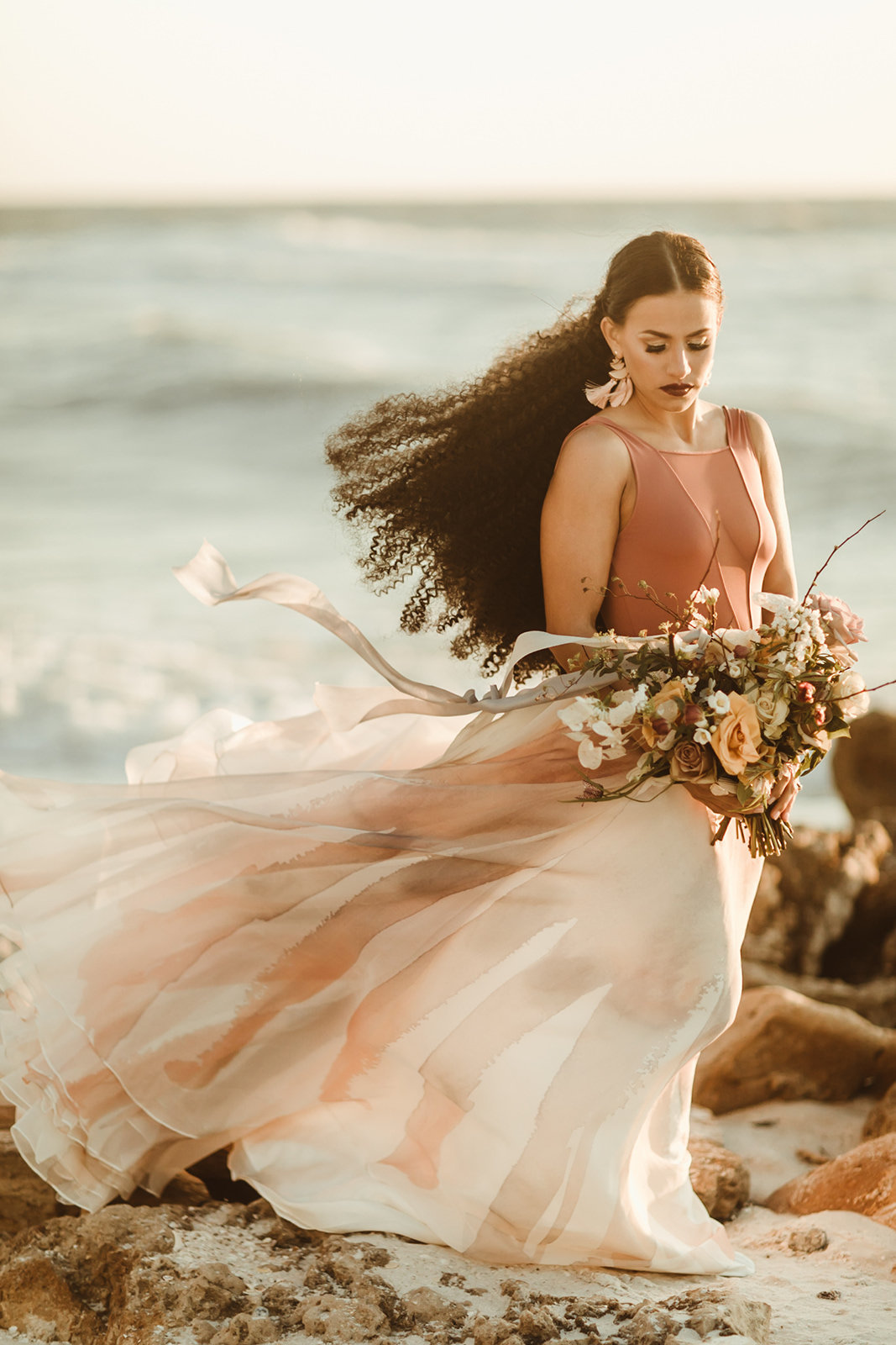 Celestial wedding inspiration_ beach elopement style-136