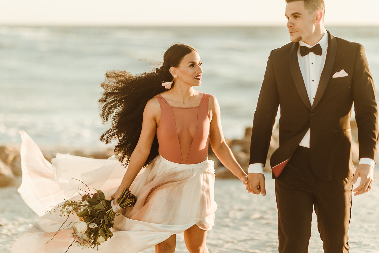 Celestial wedding inspiration_ beach elopement style-124