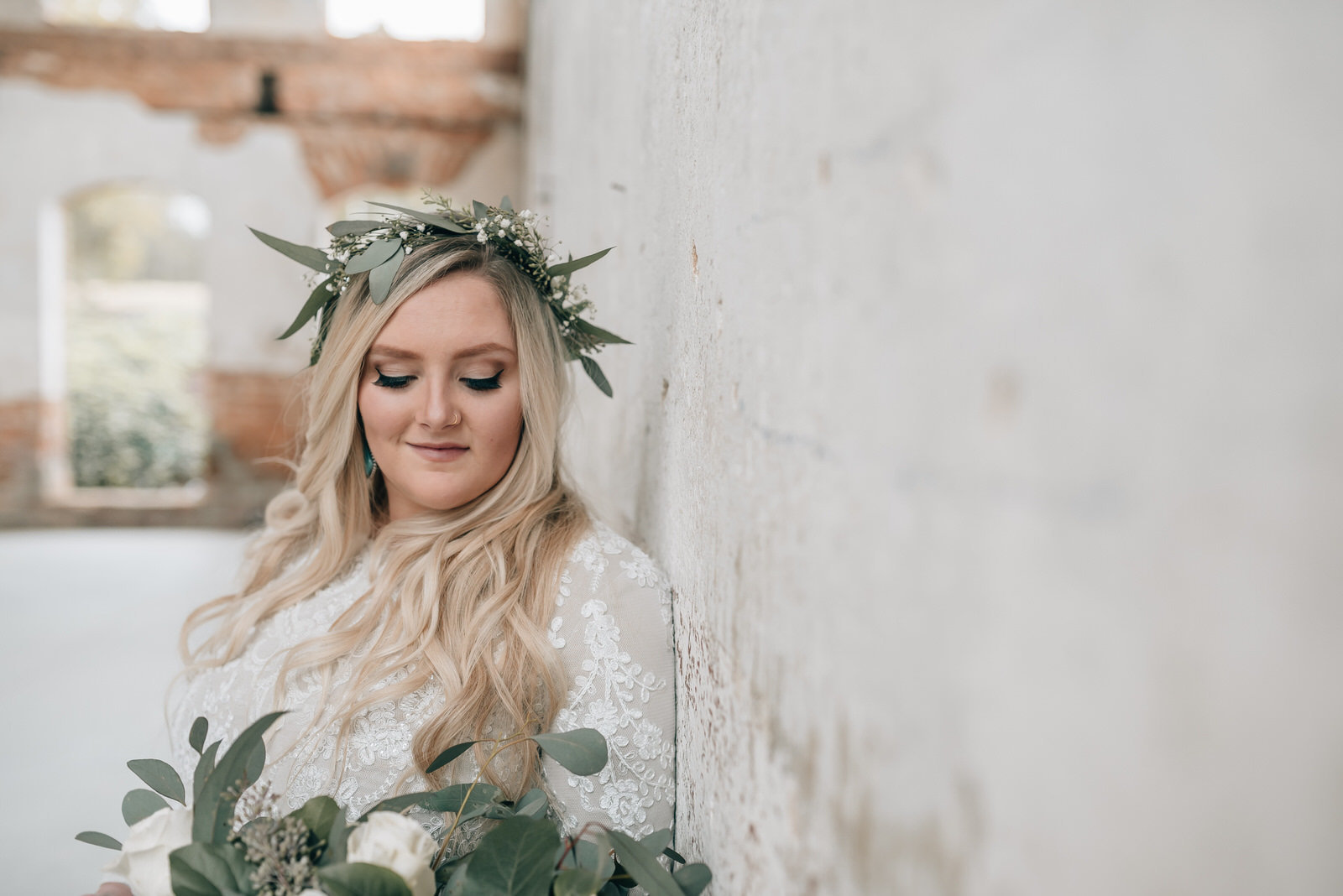 Bridal at the Providence Cotton Mill Maiden NC