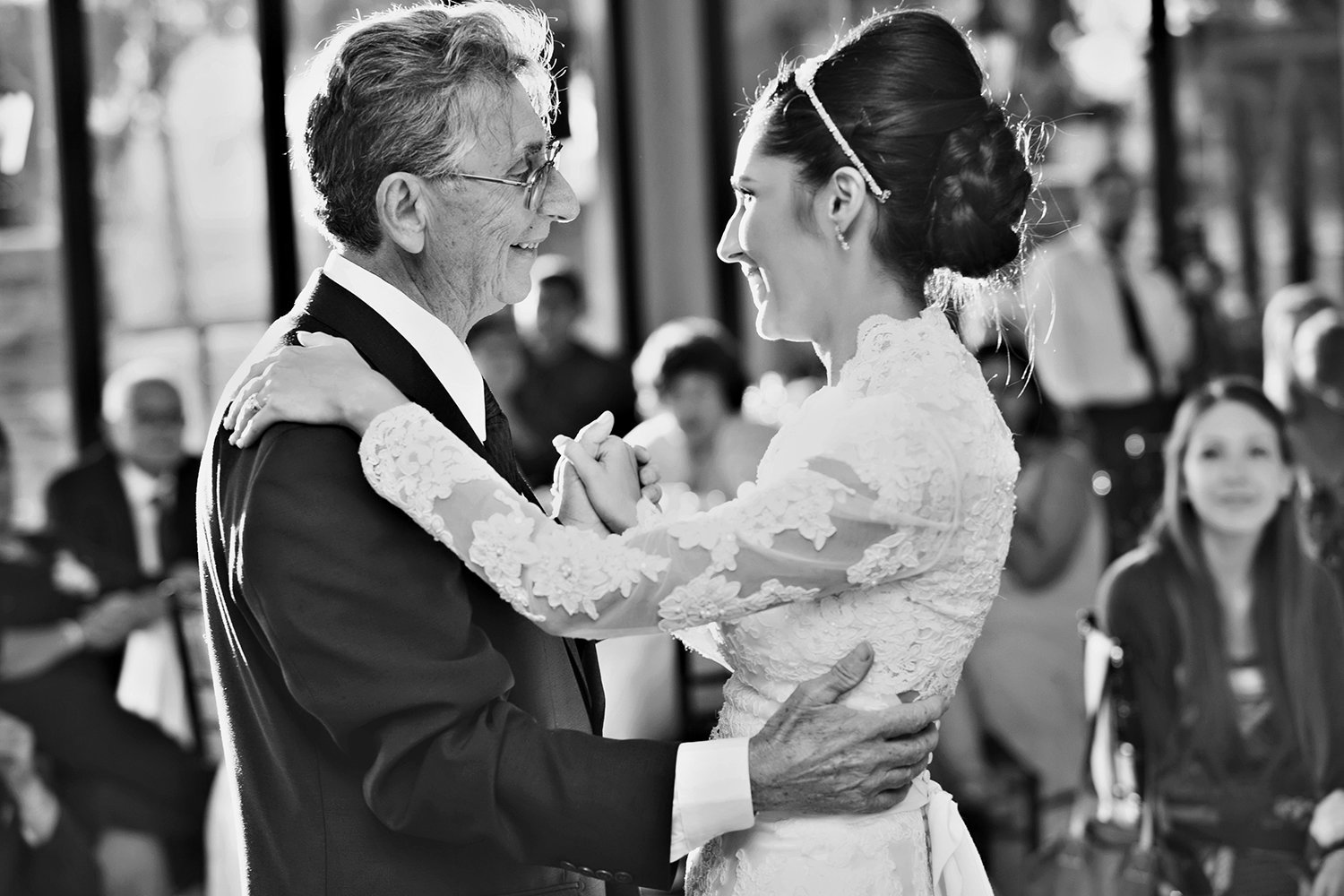 Steele Canyon wedding photos father daughter dance emotional