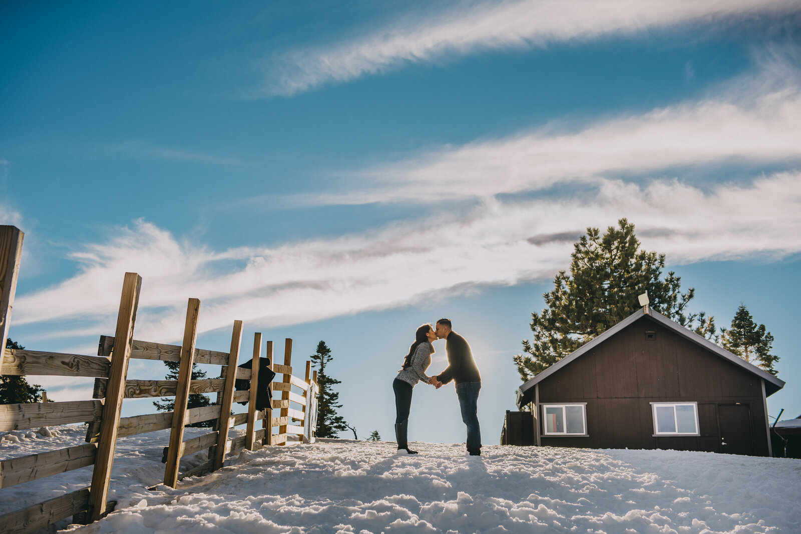 mt baldy engagement photography