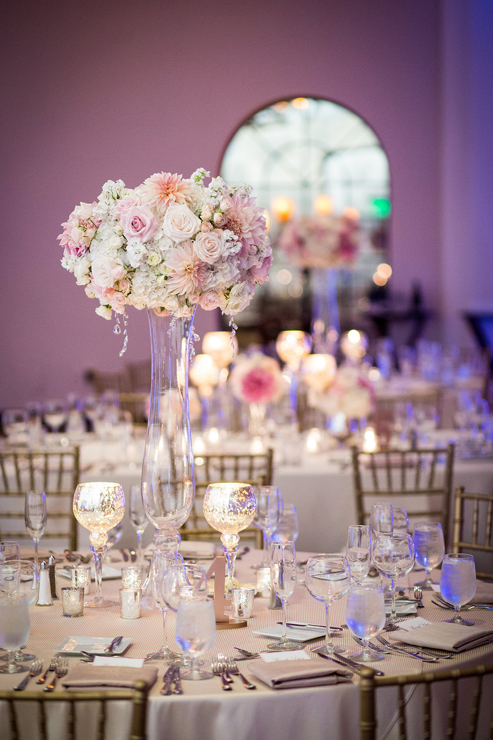 Pretty in pink luxury wedding table settings