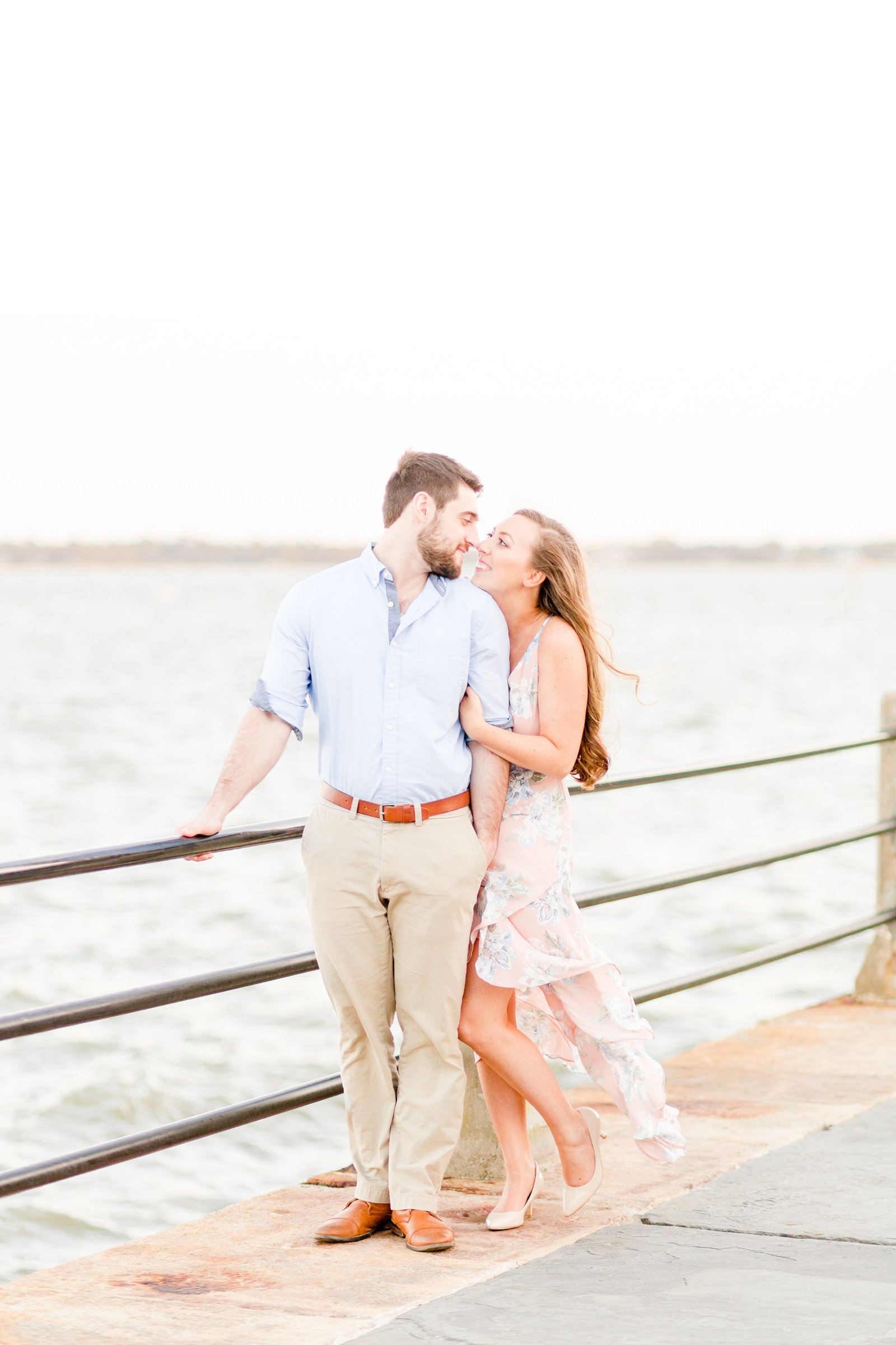 dreamy light bright airy pastel engagement