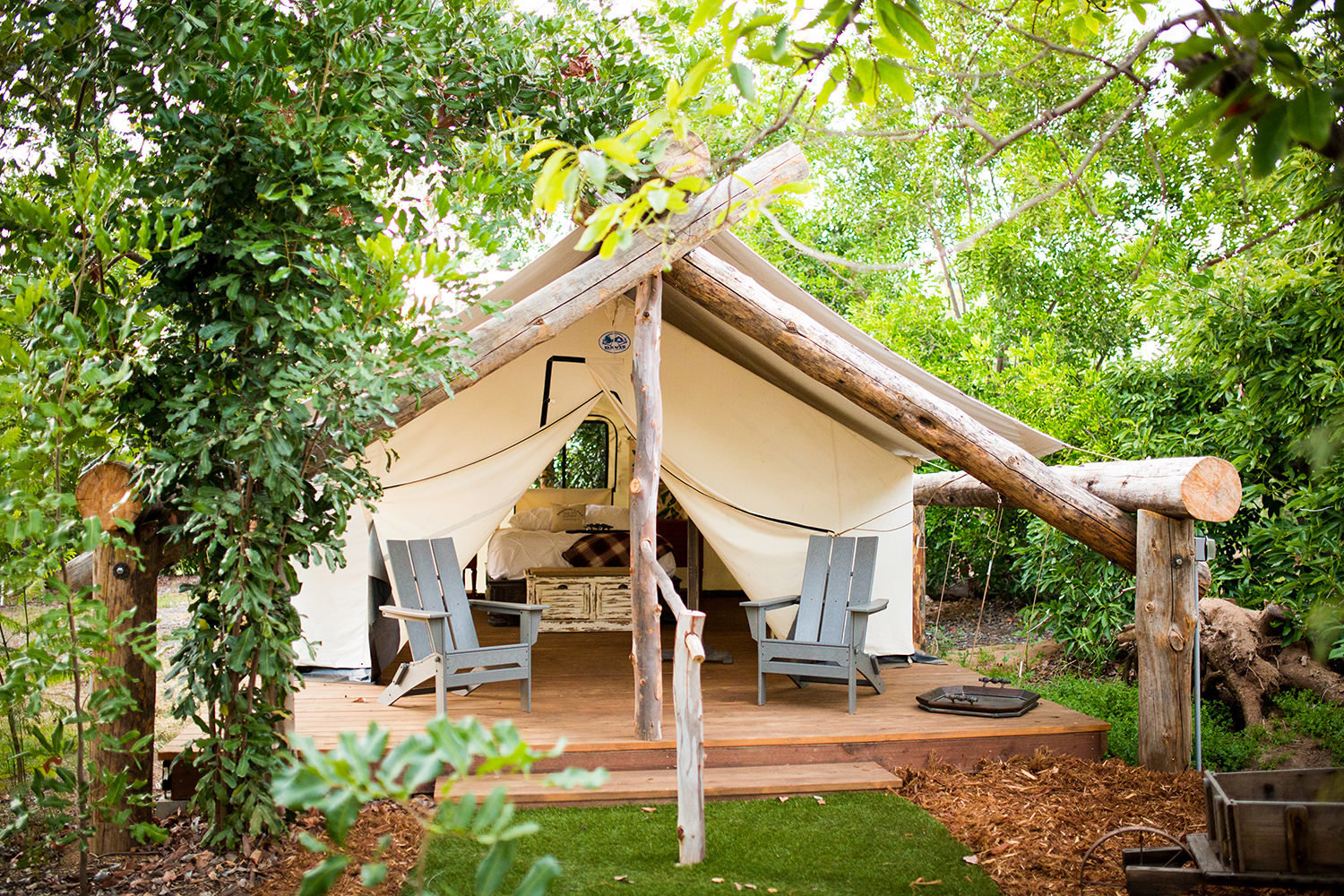 amazing glamping tent