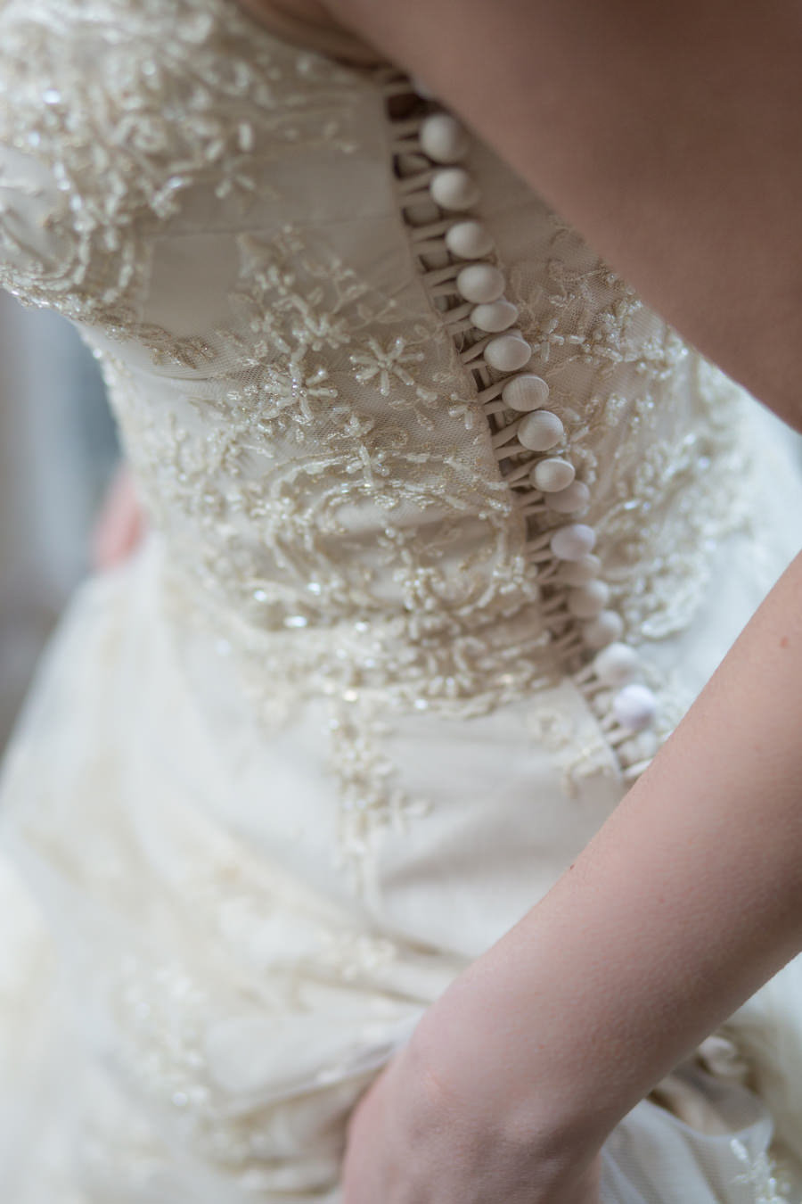 Artemis_champagne_beaded_lace_wedding_dress_buttons_JoanneFlemingDesign_AveryLynnPhoto