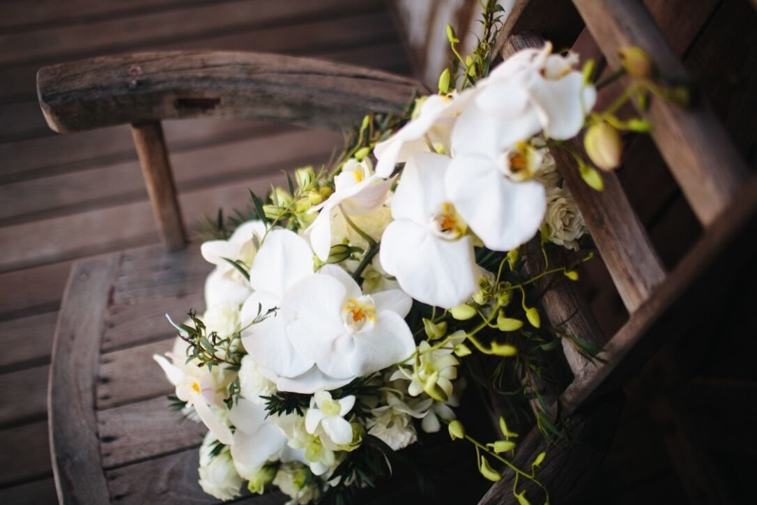 Bride's bouquet, orchids