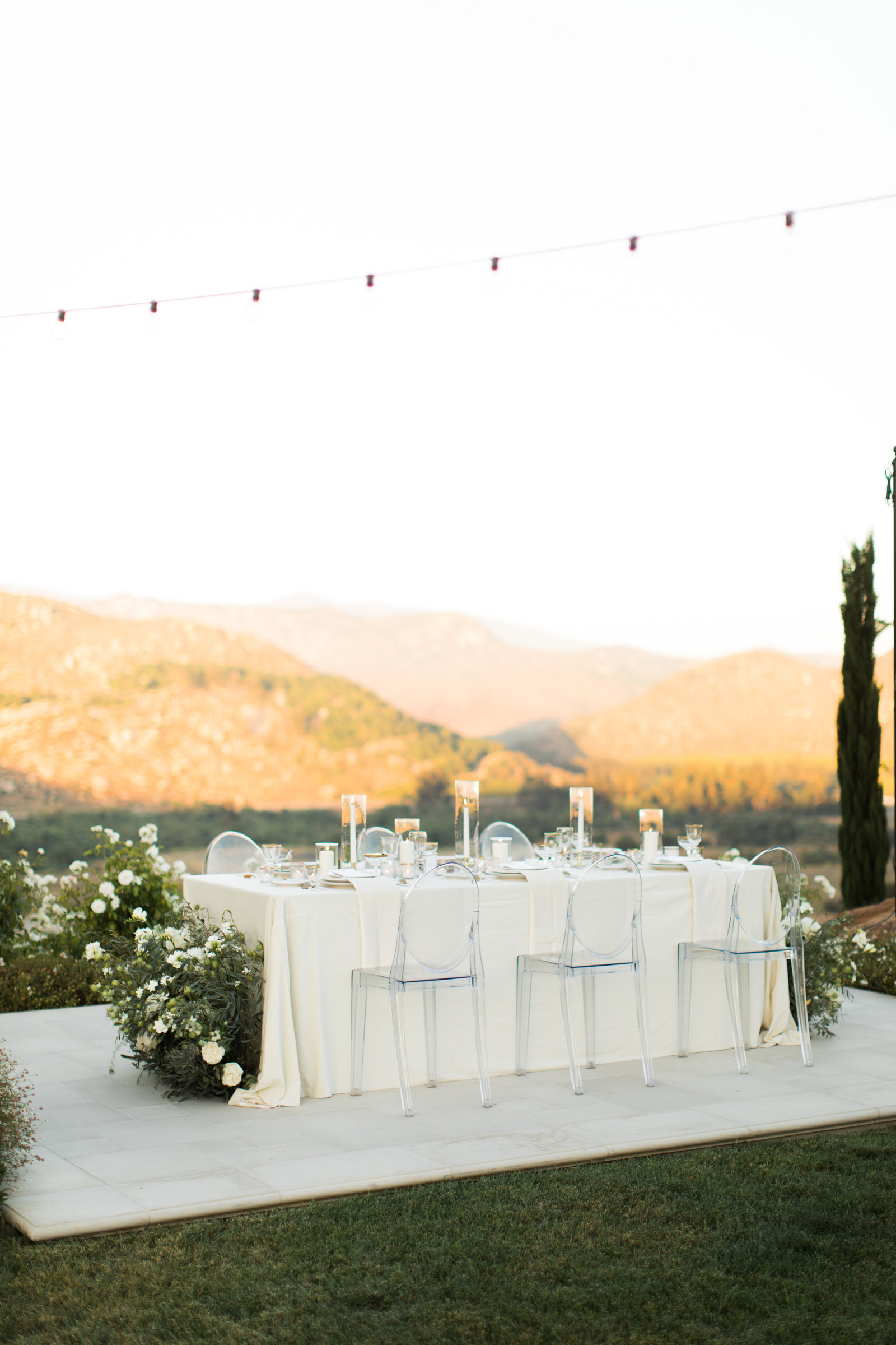 beautiful outdoor wedding venue with a view