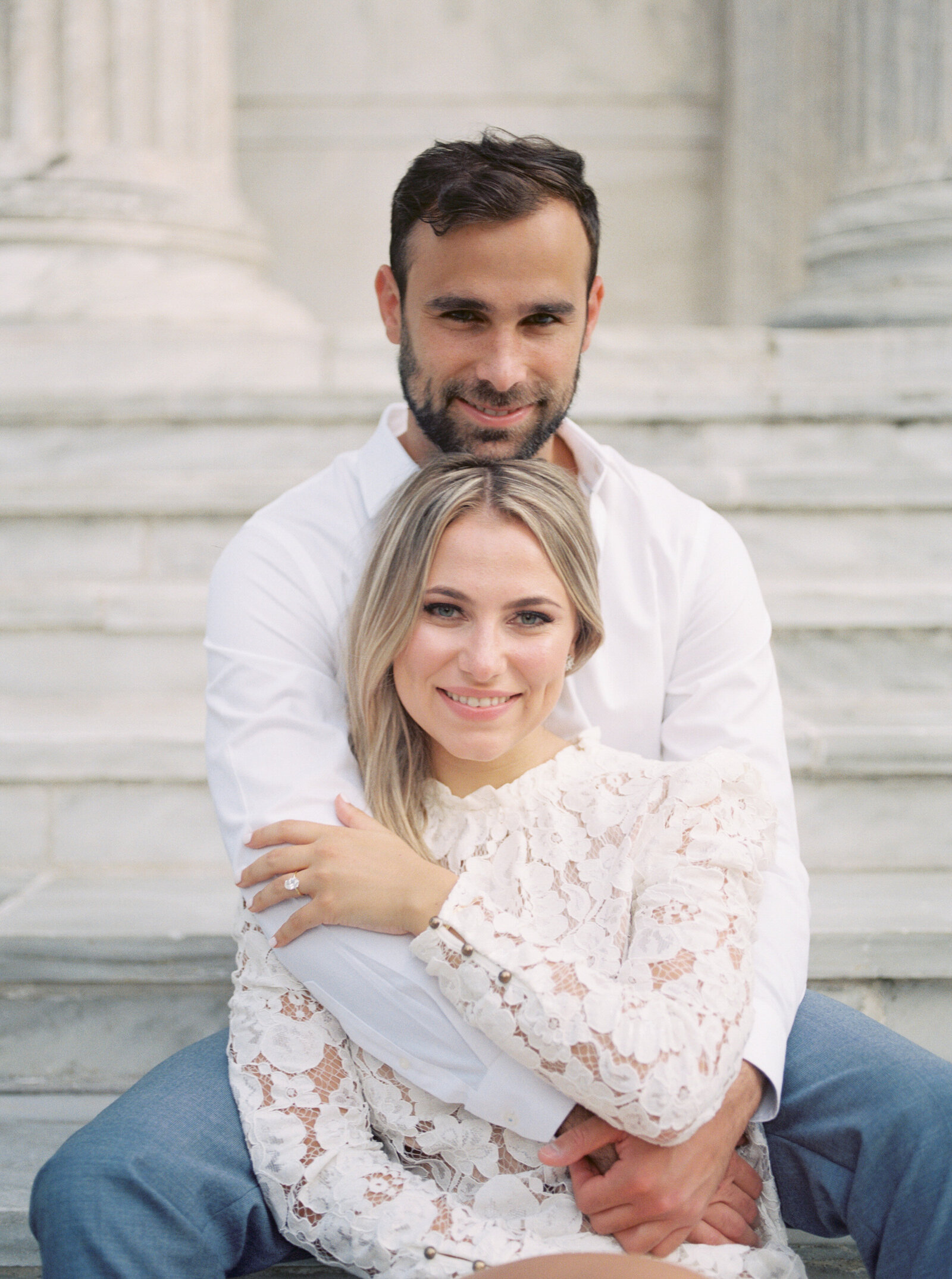 Chic and stylish engagement session at Princeton University