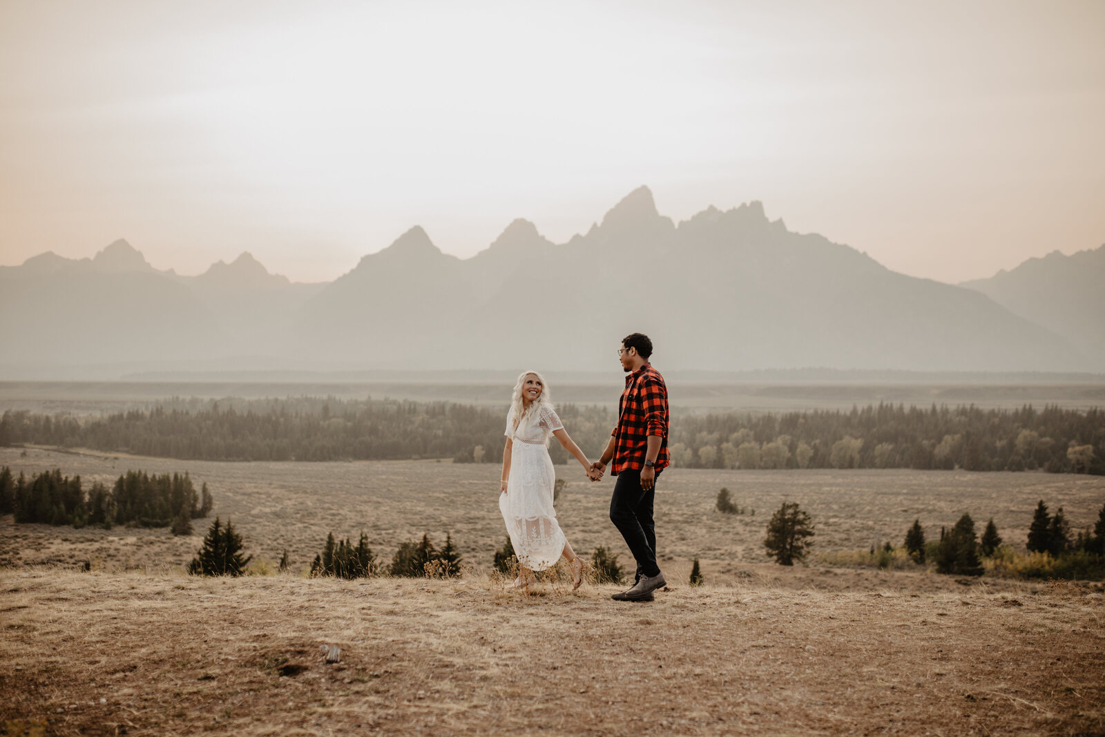 teton mountain engagement session