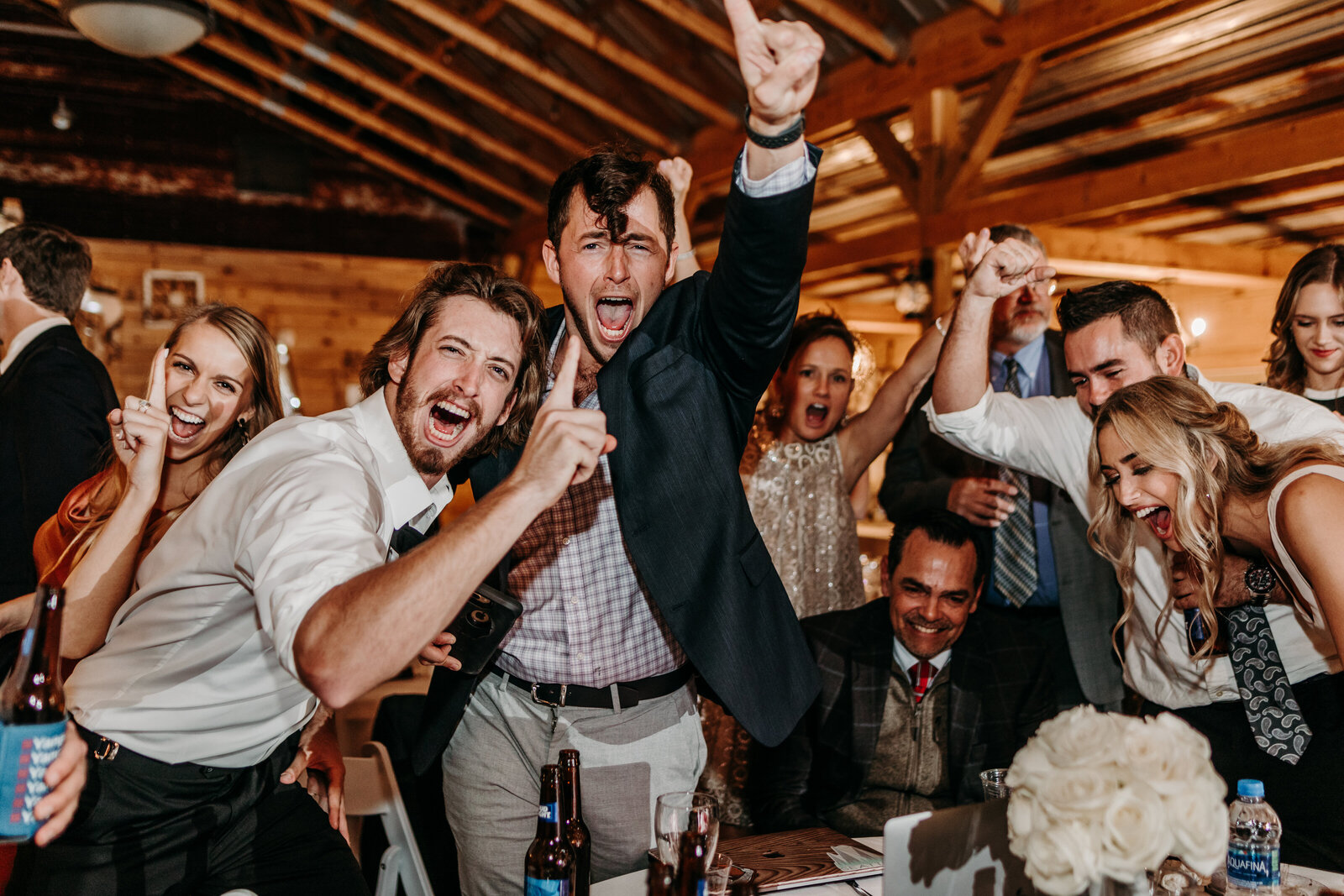 J.Michelle Photography photographs guests dance at a reception  during a vintage oaks farm wedding in Athens, Ga